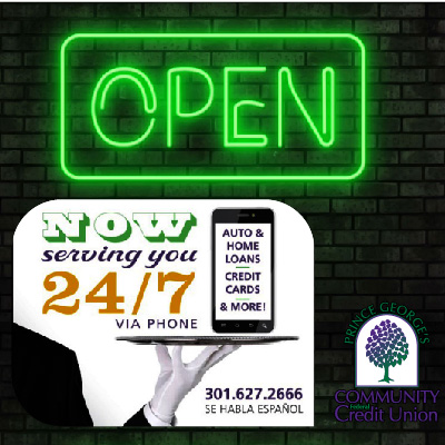 Prince George's County Community Federal Credit Union - Now Serving you 24/7